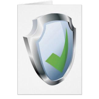 Concepto de la seguridad del escudo de la señal tarjeta