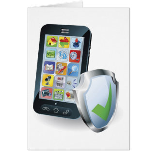 Concepto de la seguridad del teléfono móvil tarjeta