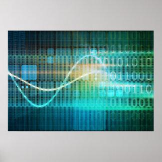 Concepto de la tecnología con arte abstracto de póster