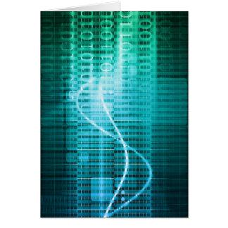 Concepto de la tecnología con arte abstracto de tarjeta de felicitación