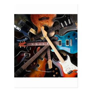 Concepto de las guitarras eléctricas postales