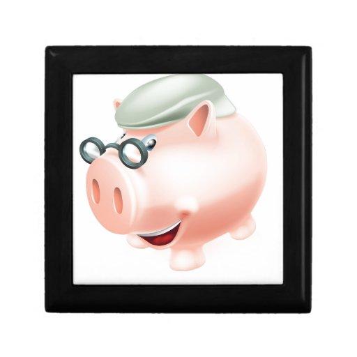 Concepto de los ahorros del plan de jubilación caja de recuerdo