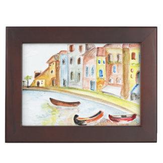 Concepto de Venecia Caja De Recuerdos