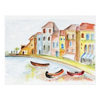 Concepto de Venecia Tarjeta Postal