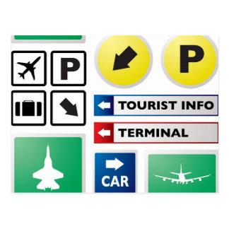 Concepto del aeropuerto postal