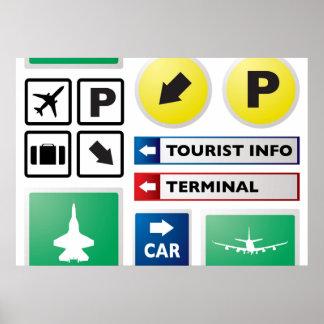 Concepto del aeropuerto póster
