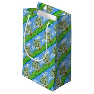 Concepto del árbol del dinero bolsa de regalo pequeña