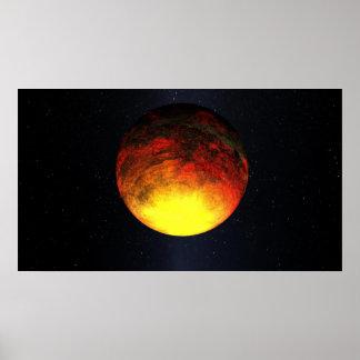 Concepto del artista de Kepler-10b Posters