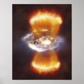 Concepto del artista de una galaxia impresiones