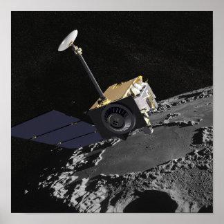 Concepto del artista del reconocimiento lunar Orbi Posters