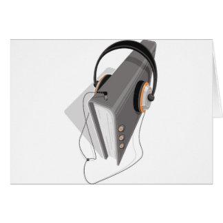 Concepto del audiolibro tarjetas