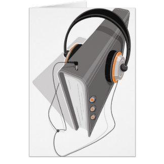 Concepto del audiolibro tarjeta de felicitación