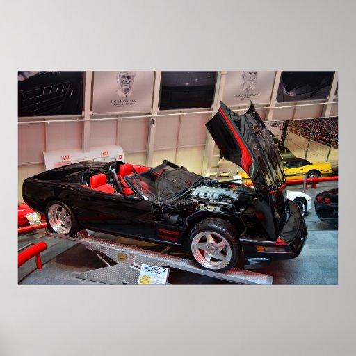 Concepto del automóvil descubierto del Corvette ZR Impresiones