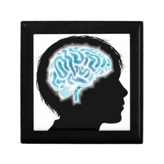 Concepto del cerebro del niño cajas de joyas