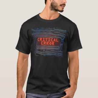 Concepto del error crítico camiseta
