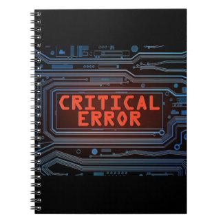 Concepto del error crítico cuaderno