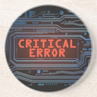 Concepto del error crítico posavasos