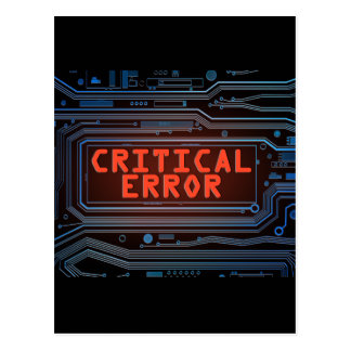 Concepto del error crítico postal
