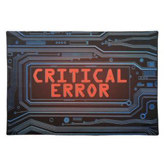 Concepto del error crítico salvamanteles