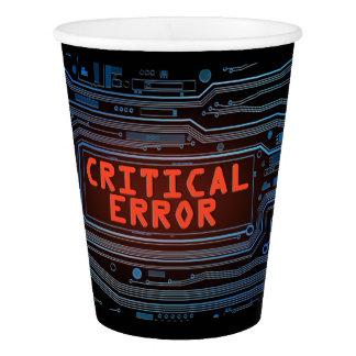 Concepto del error crítico vaso de papel