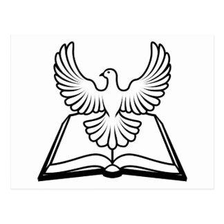 Concepto del Espíritu Santo de la biblia Tarjeta Postal