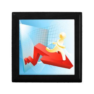 Concepto del éxito empresarial cajas de recuerdo