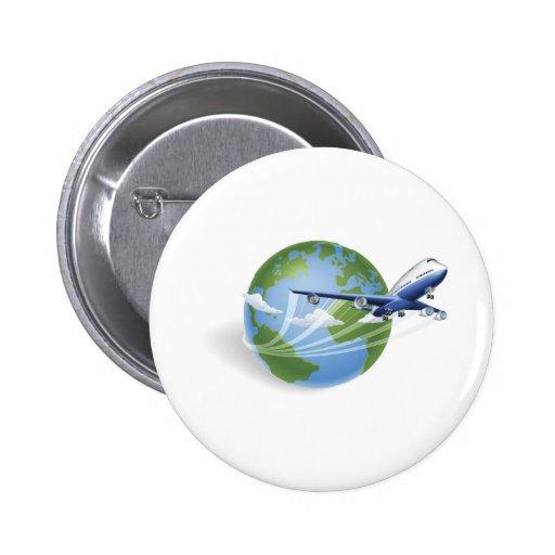 Concepto del globo del aeroplano pin