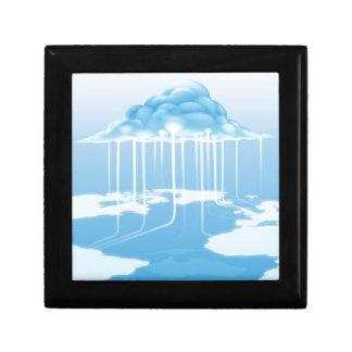 Concepto del Internet del ordenador de la nube Cajas De Recuerdo