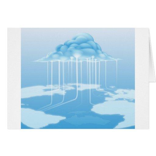 Concepto del Internet del ordenador de la nube Felicitacion