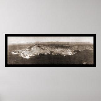 Concepto del punto, foto 1906 de CA Posters