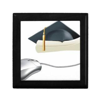 Concepto del ratón del ordenador de la graduación caja de regalo