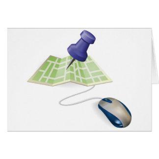 Concepto del ratón y del mapa tarjeta