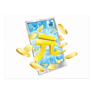 Concepto del teléfono del dinero de Yuan Tarjeta Postal