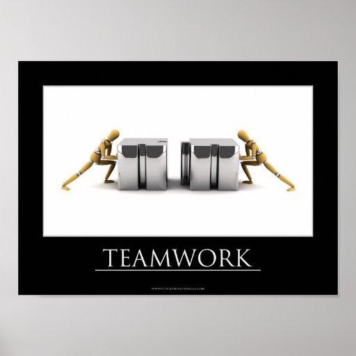 Concepto del trabajo en equipo posters