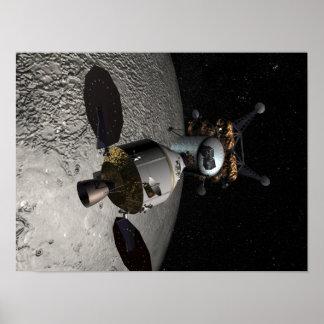 Concepto del vehículo de la exploración del equipo poster