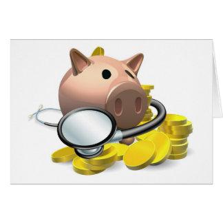 Concepto financiero de la revisión médica felicitaciones