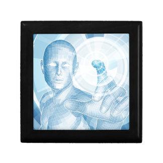 Concepto futuro de la tecnología 3D app Caja De Recuerdo