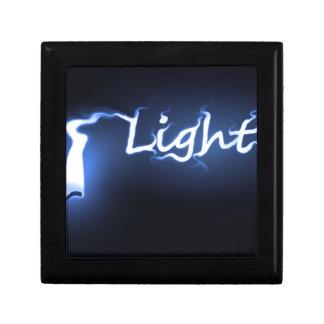 Concepto ligero de la llama caja de regalo