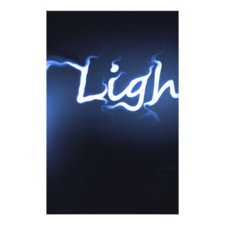 Concepto ligero de la llama papelería