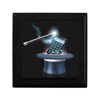 Concepto mágico de la matemáticas caja de joyas