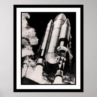 Concepto pesado del vehículo de lanzamiento de la poster