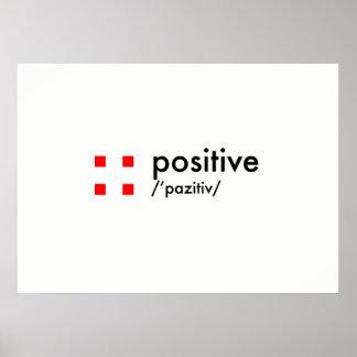 concepto positivo póster