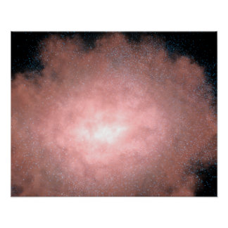 Concepto qué de una galaxia polvorienta y brillant poster