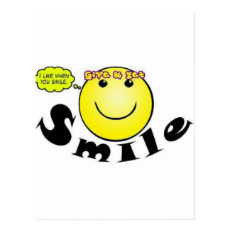 Concepto sonriente postal