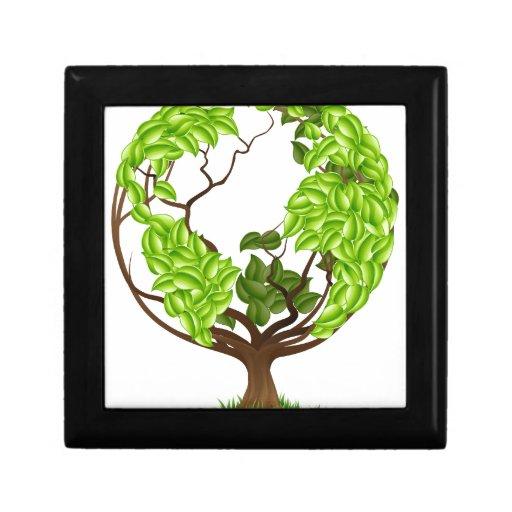 Concepto verde del mundo de la tierra del globo de caja de recuerdo