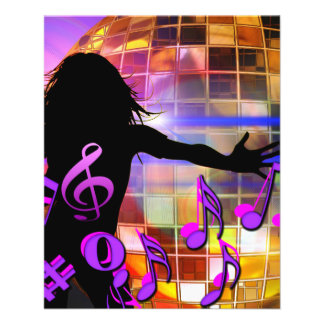 concer del sonido del clef agudo de la música de folleto 11,4 x 14,2 cm