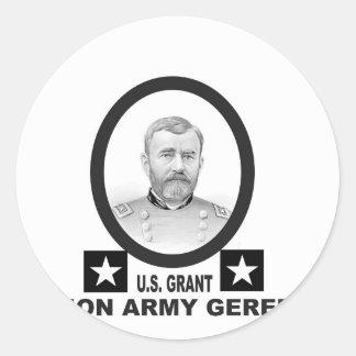 concesión general de los E.E.U.U. del Ejército de Pegatina Redonda