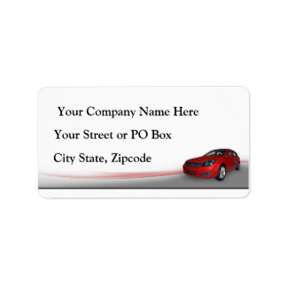 Concesionario de coches etiquetas de dirección