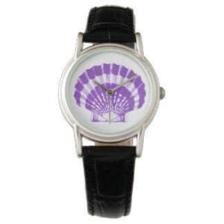 Concha de peregrino Shell - violeta y blanco Reloj