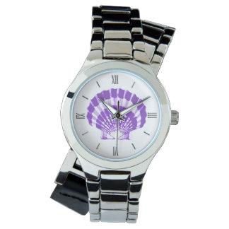Concha de peregrino Shell - violeta y blanco Relojes De Mano